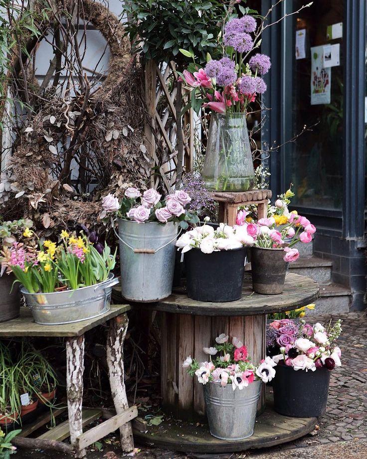 Hello Berlin! Spring is here 🌿 PS What a beautiful place. Amazing flowers! ... Pierwszy dzień wiosny. W Berlinie na każdym kroku są takie piękne kwiaciarnie. Teraz nie mam czasu, bo za chwile zaczynamy sesje zdjęciowa, ale wstąpię tu później... 🌿…