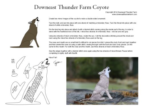 coyote pattern  downeasthunderfarm.com