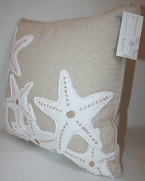 Starfish Accent Pillow tropical bed pillows and pillowcases