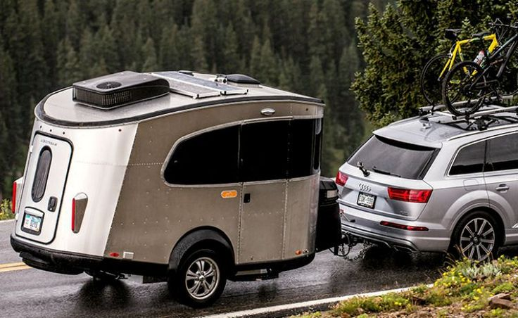 """The new 2017 Airstream Basecamp simply reflects its name. A complete redesign of the company's previous Basecamp trailer introduced in 2007, this latest entry sports an aerodynamic profile and designed for outdoor enthusiasts who just want to """"hitch-up-and-go."""""""