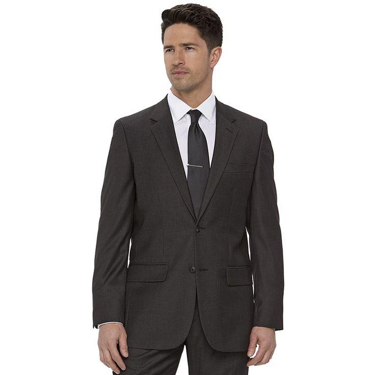 Men's Apt. 9 Slim-Fit Gray Herringbone Suit Jacket, Size: 44 - regular, Med Grey
