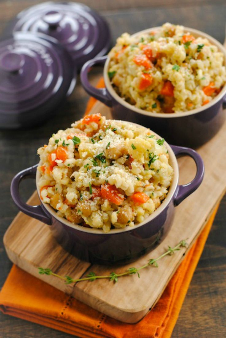 Barley and Chickpea Risotto: 15 Crock-Pot Recipes You Won't Believe Are Vegan via Brit + Co