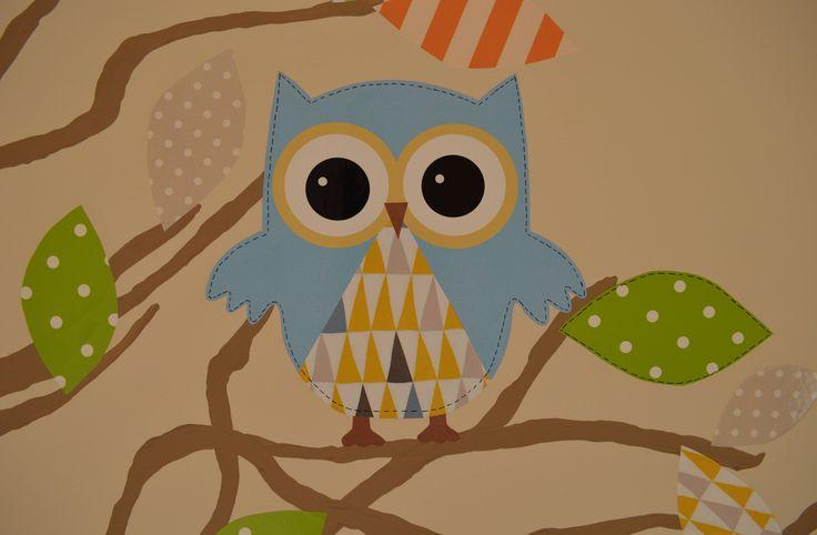 Bagoly faldekor Baba szoba Baby room Owl wall decor