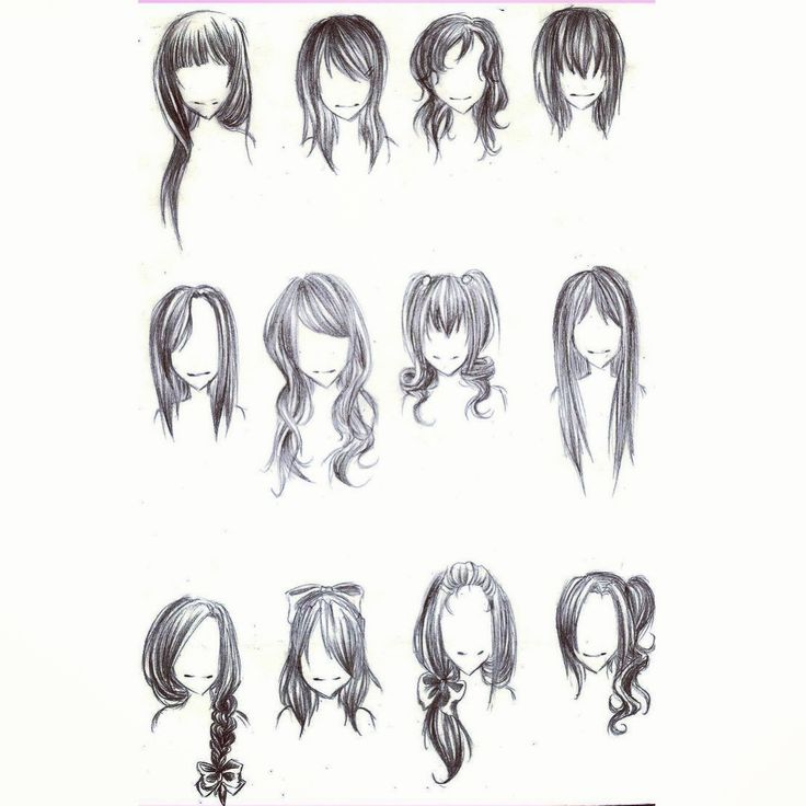 Various hair styles if youre stuck curly straight bob wavy various hair styles if youre stuck curly straight bob wavy hair pretty manga draw pinterest straight bob sketch ideas and drawings ccuart Choice Image