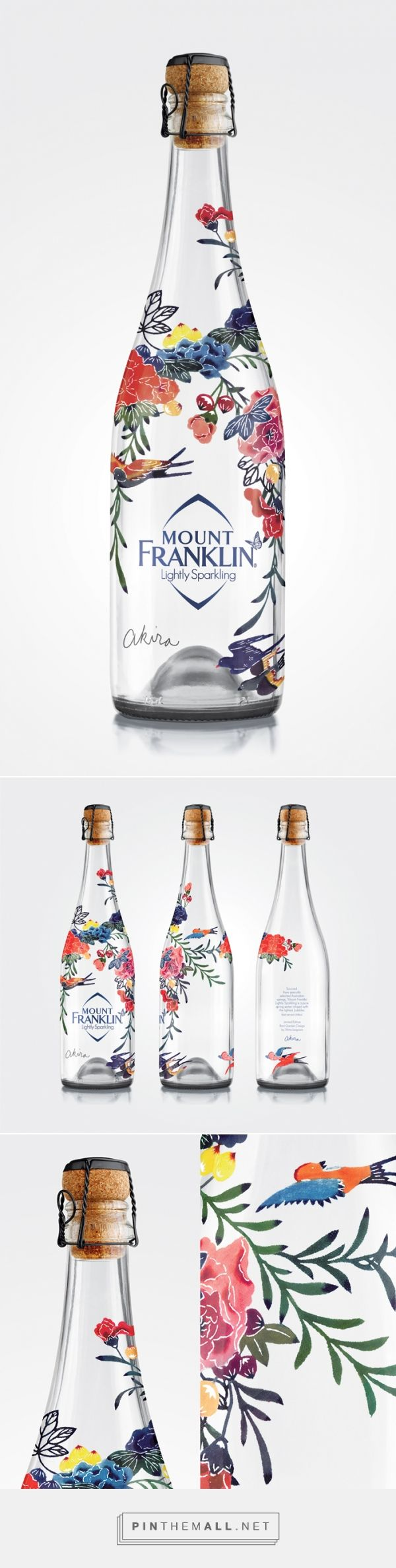 MOUNT FRANKLIN AKIRA | A limited edition Bird Garden Design by Akira Isogawa. Taking Mount Franklin's premium positioning to new heights through a limited edition champagne water bottle. | Creative Platform