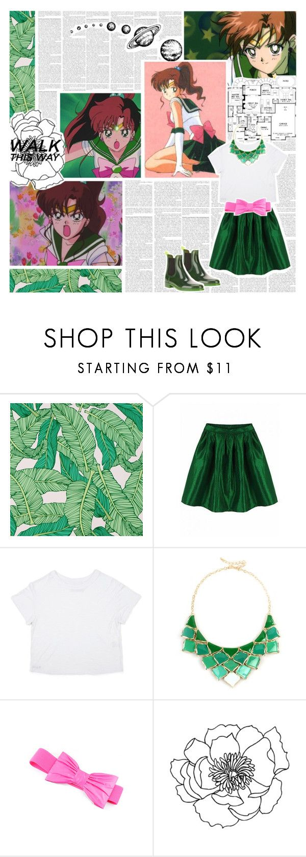 """""""Casual Cosplay: Sailor Jupiter (Sailor Moon)"""" by phaedra-solaris ❤ liked on Polyvore featuring Chasing Paper, Paul Green and George J. Love"""