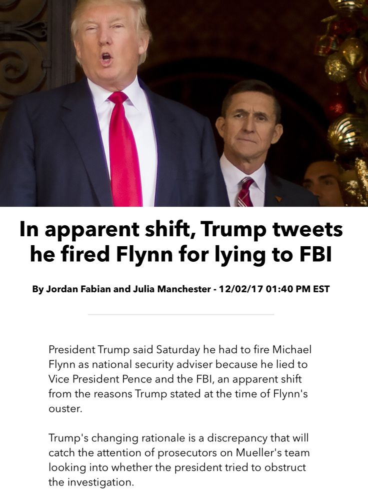 a research on the real reason behind the firing of flynn Watch video the real reason trump declared jerusalem the capital of israel was because he feared losing his evangelical voter base there are those evangelicals who believe in.