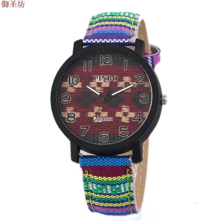 Fashion Retro Vintage Fabric And Leather Strap Women Quartz Watch Relojes Mujer 2017 Horloges Vrouwen Ladies Geneva Clock A233