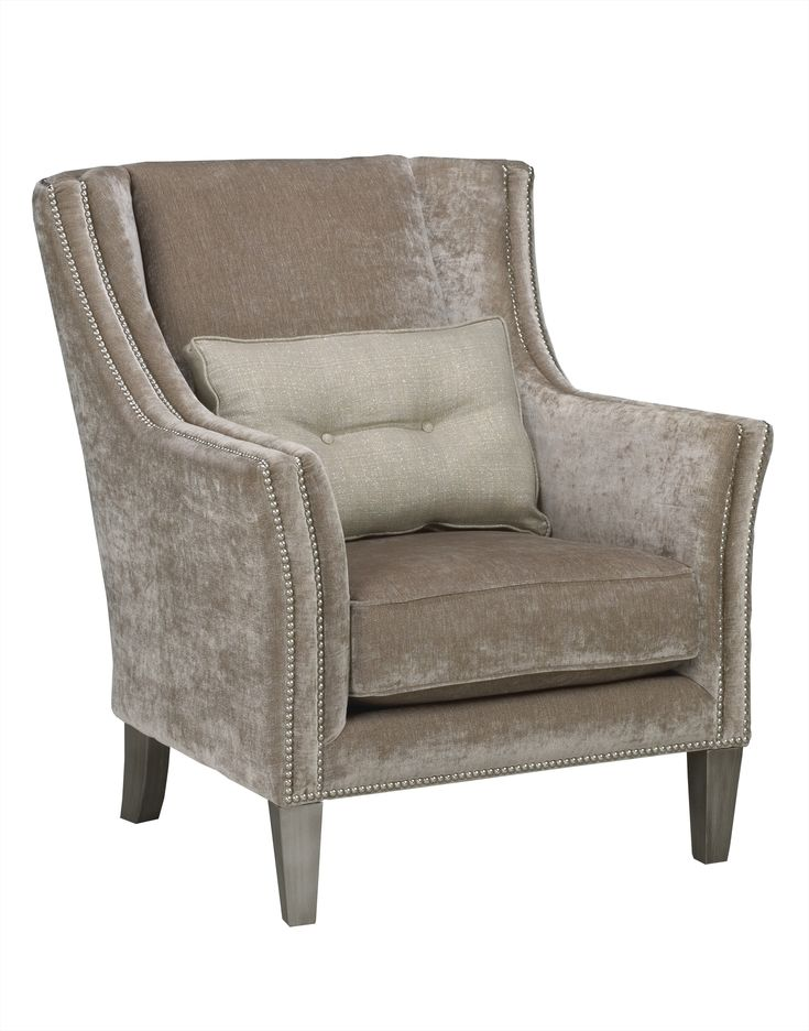 transitional studded accent chair claywood st pinterest