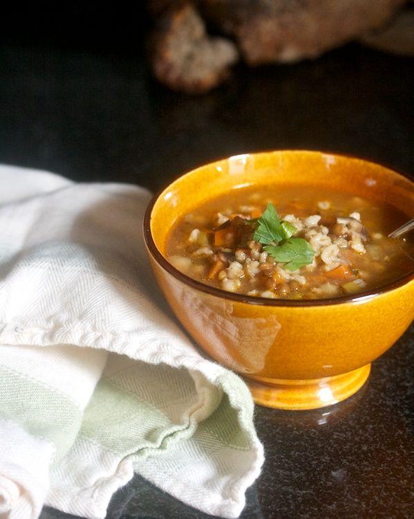 Lentil & Barley Soup | Soup | Pinterest | Barley soup ...