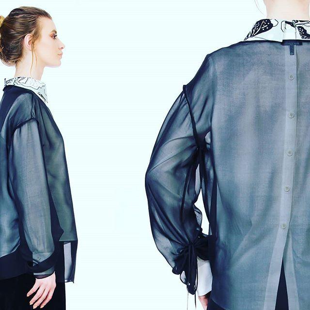 Transparent silk layer #andreatincu #fallwinter2018 #silkblouse #transparency #fashion #style #contemporaryfashion #lovejob #fashiondesigner #instagood