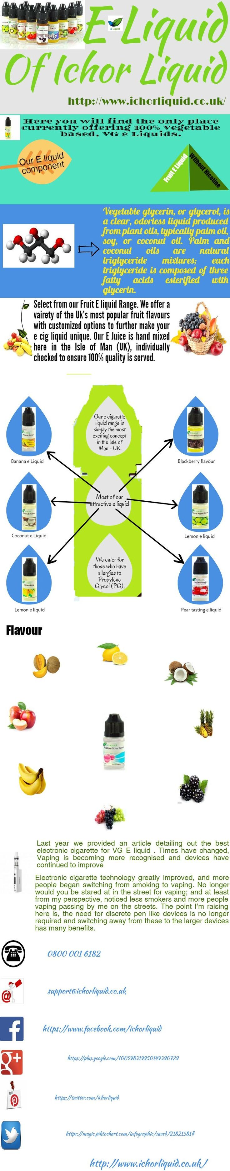 Best VG E Liquid In UK  Here you will find the only place currently offering 100% Vegetable based, VG e Liquids. We cater for those who have allergies to Propylene Glycol (PG), which is commonly found in the more commercial e Liquids available on the market.