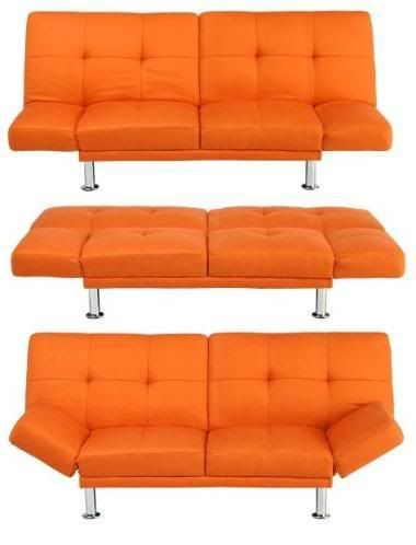 Orange Futon Couch From Target I Have Always Wanted Pinterest Bed Bedroom And