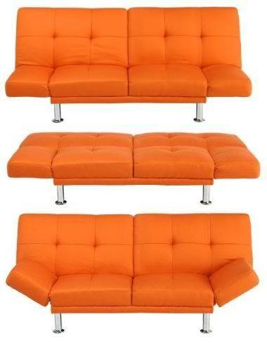 orange futon couch from Tar