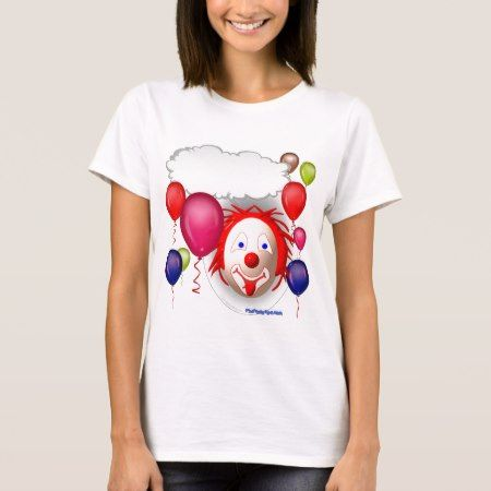 Talking Birthday Clown T-Shirt - tap, personalize, buy right now!