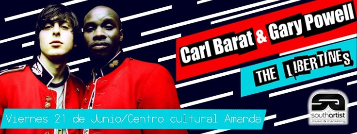 Chicos nos van quedando las últimas entradas sin recargo para Carl Barat & Garay Powell (The Libertines).  https://www.facebook.com/events/456957427716978/