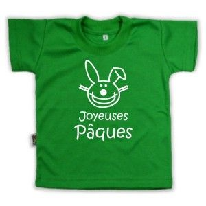 T-shirt enfant rigolo : Joyeuses PÂQUES