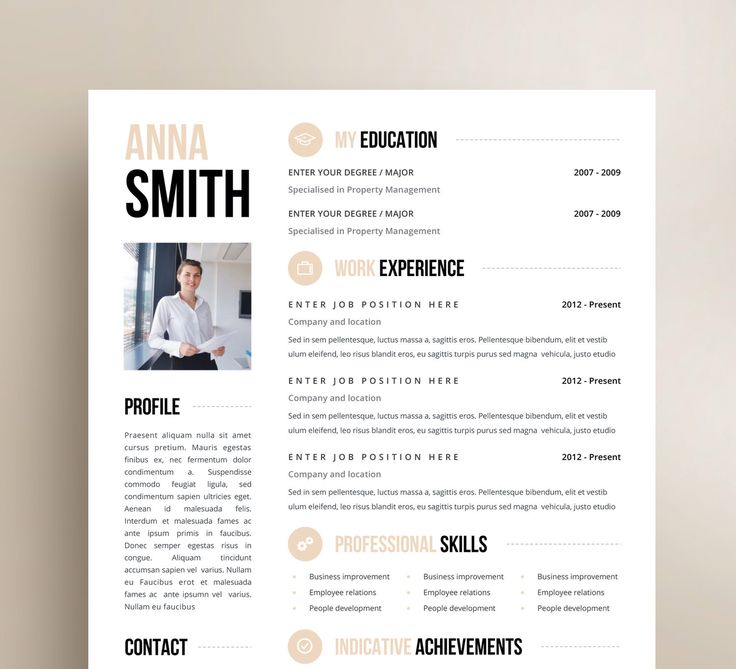 41 best CV images on Pinterest Page layout, Resume and Resume - free creative word resume templates