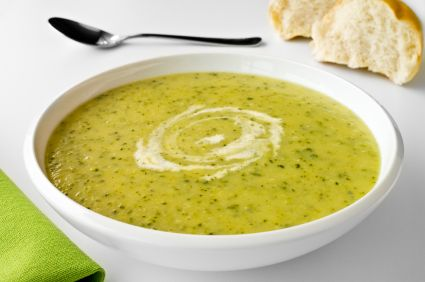 Courgette and lemon Soup