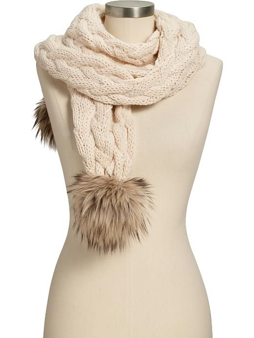 Womens Cable-Knit Scarves want learn how to knit a scarf like this . go to You Tube information 1100  learn how to knit