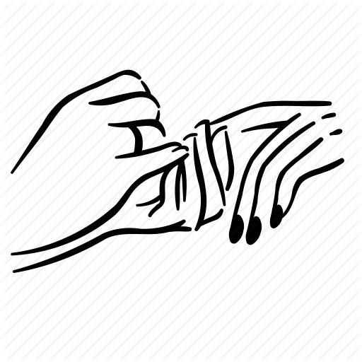 Картинка нарисованная рука на белом фоне черно-белая