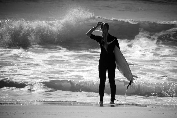 Surfer girl. - Surfer girl in France.