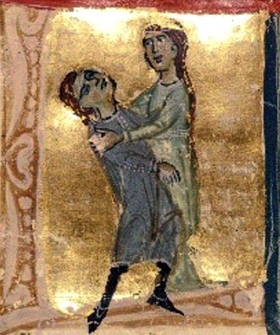 """Jaufre Rudel mourant dans les bras de la comtesse de Tripoli  BNF, ms Fr 854 (I), f° 121v Jaufré Rudel (né au début du XIIe siècle à Blaye - mort selon la légende en 1148 ou 1149, pendant la deuxième croisade, ou plus tard, vers 1170) est un troubadour aquitain de langue d'oc. Les chansons de Jaufre Rudel ont toutes pour thème l'éloignement. """"Avec cet amor de lonh, Jaufre invente un concept nouveau dans la poésie d'amour, celui de l'amour idéal, pur, fin, noble, éloigné et insaisissable."""