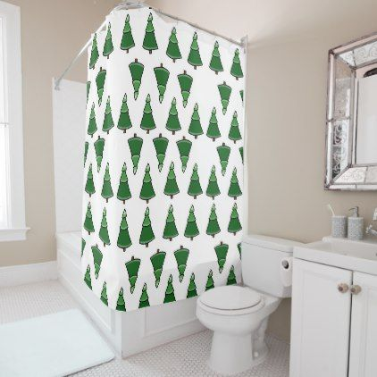 Trees Shower Curtain - home gifts ideas decor special unique custom individual customized individualized