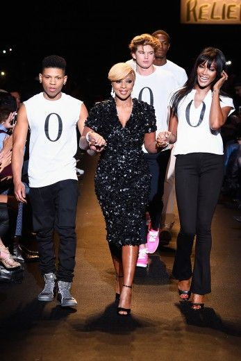 Bryshere Gray, Mary J. Blige and Naomi Campbell