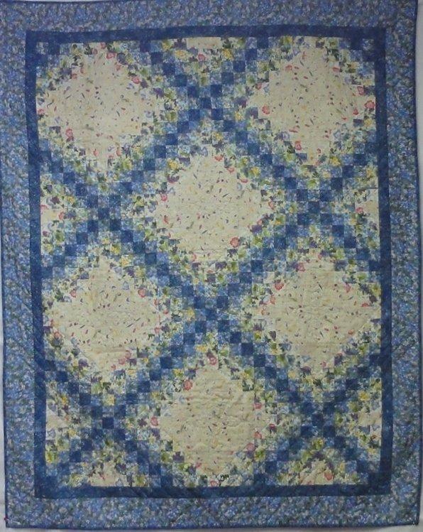 Irish Chain, Machine Pieced, Hand Quilted, Pattern by Carol Porter, 2001
