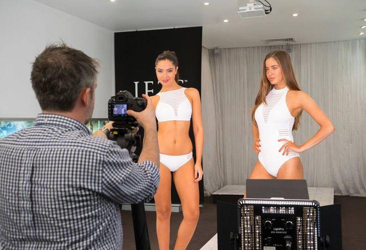 The models showcase new season styles featuring Jets Swimwear Parallels  Shop the look: https://www.jets.com.au/shop/browse?story=637  #JETSSwimwear