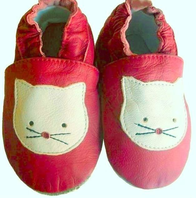 Leather Shoes leather slippers L56 Cat Kitty