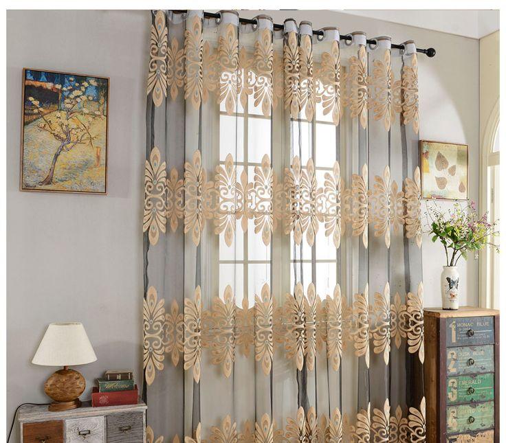 Роскошный тюль, занавески для гостиной, спальни, готовые отвесные занавески для окна, для кухонной двери, занавески, драпированная ткань, украшение для дома купить на AliExpress