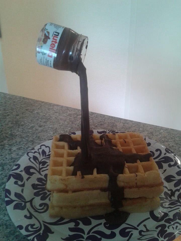 Gravity Defying Cake Nutella Birthday Cakes Pinterest