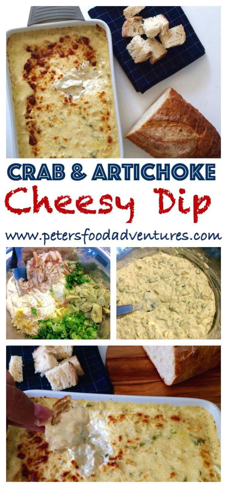 Cheesy Crab and Artichoke Dip | Recipe | Crab and artichoke dip ...