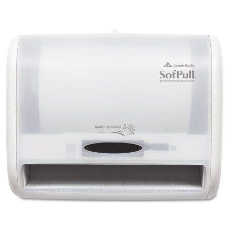 Georgia Pacific Professional Automatic Towel Dispenser, 12 4/5 x 6 3/5 x 10 1/2, White, Multicolor