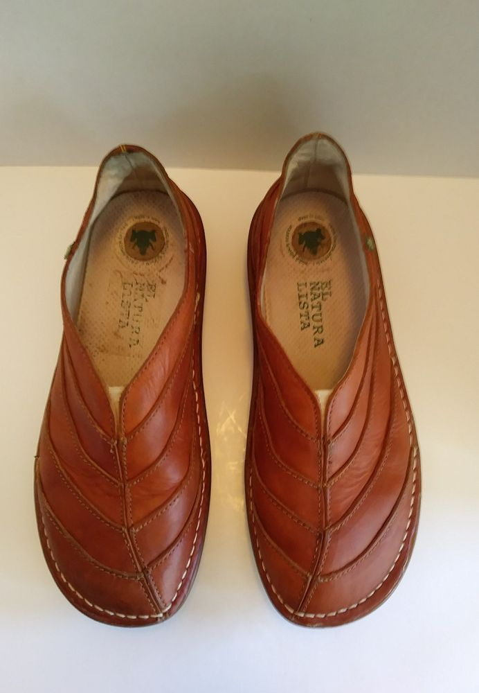 c32ffe2e613 El Naturalista Organico Leather Slip On Shoes Women s Size 10 41 Spain N072  072