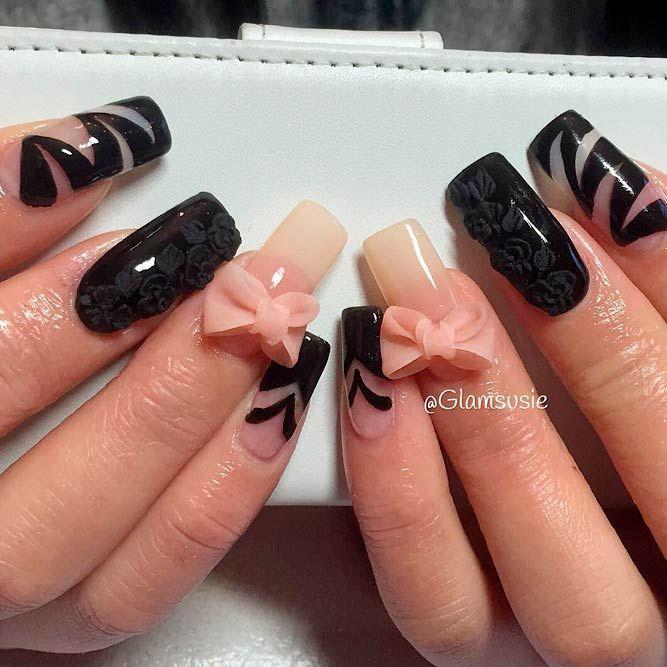 Best 25 black acrylic nails ideas on pinterest black nails top most creative black acrylic nails designs prinsesfo Gallery