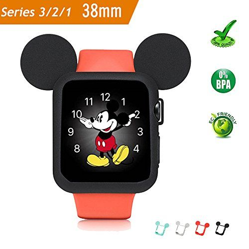 Apple Watch Case 38MM (BLACK), Mickey Mouse Ears Soft Silicone Protective Cover for iWatch Series 3/Series 2/Series 1 Sport/Edition/Nike+ by pipigo #Apple #Watch #Case #(BLACK), #Mickey #Mouse #Ears #Soft #Silicone #Protective #Cover #iWatch #Series #/Series #Sport/Edition/Nike+ #pipigo