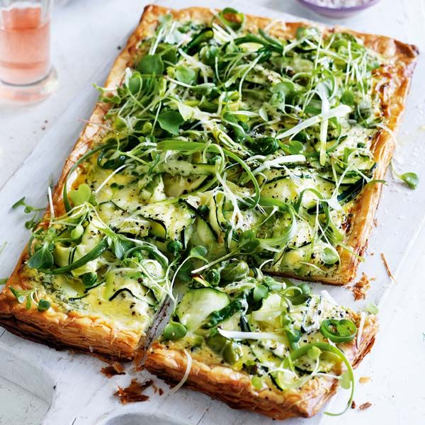 This summery courgette tart recipe is packed full of bright colours and cheesy flavours.