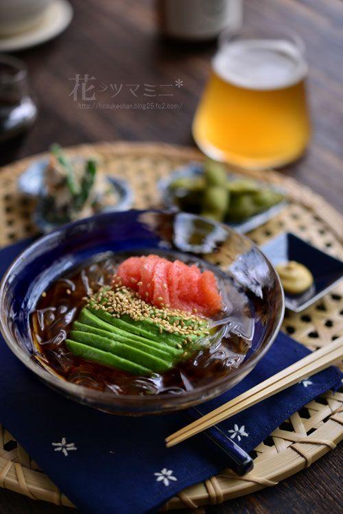 tokoroten Avocado Mentaiko - アボカド明太ところてん