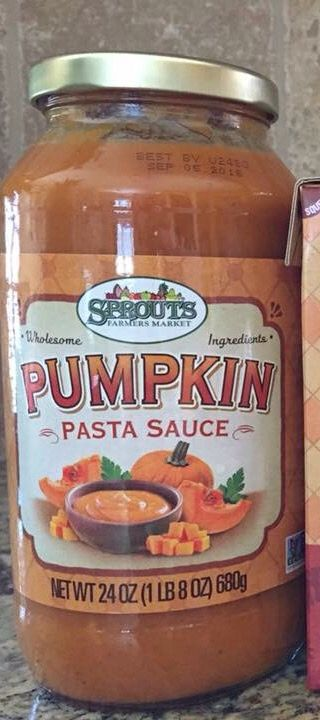 Pumpkin pasta sauce from sprouts market. Bland. Too thick.