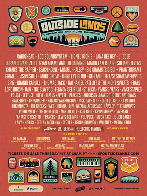 Outside Lands 2016 @ Golden Gate Park - 08/05/16-08/17/16