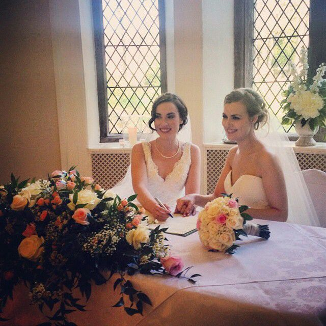 Rose and Rosie's wedding. They are too perfect <3