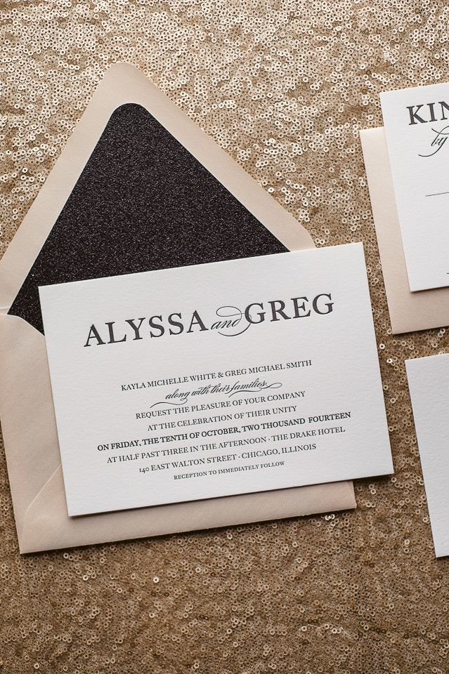 what does it mean when wedding invitation says black tie invited%0A ALYSSA Suite Glitter Package  ALYSSA Suite Glitter Package  blush and black   modern wedding invitations  glitter invites  black tie