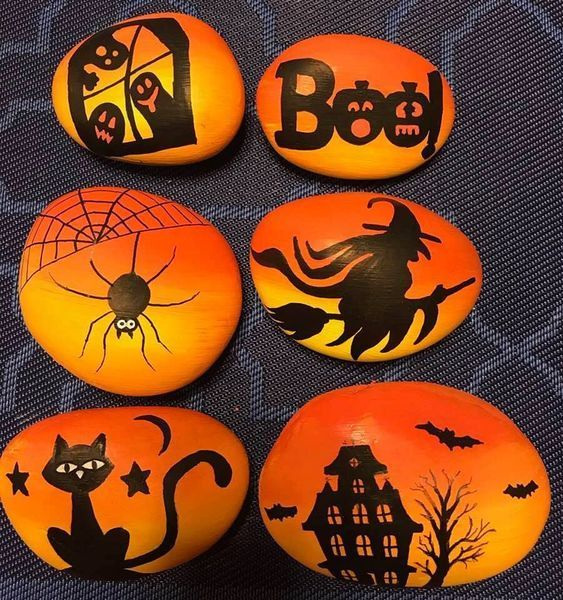 Easy Halloween Crafts for Kids to Make  Rock Painting