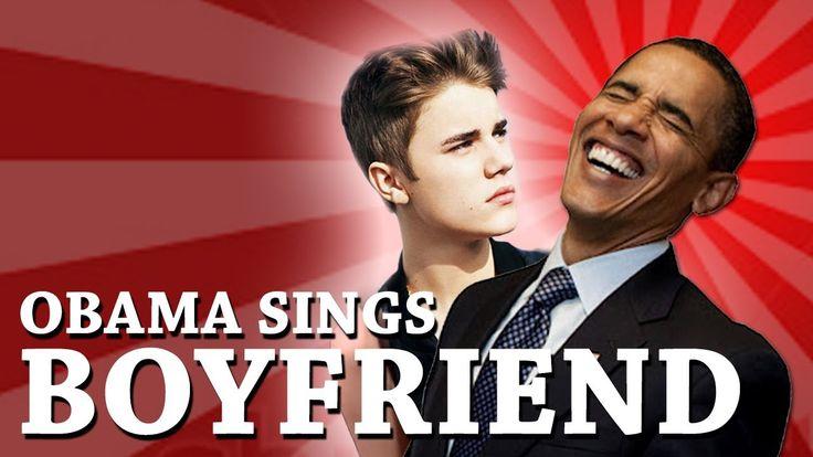 Barack Obama Singing Boyfriend by Justin Bieber #barackhasbieberfever