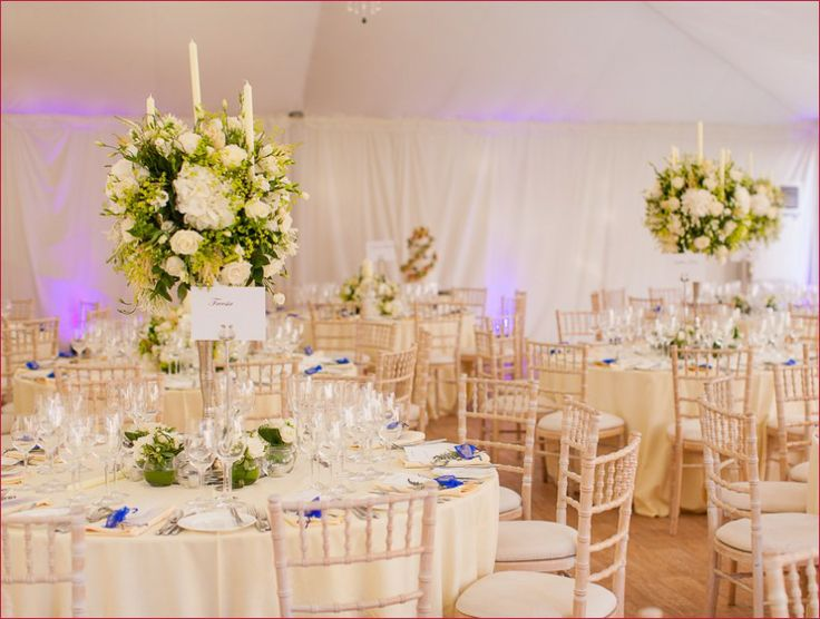 wedding tables in marquee at fulham palace