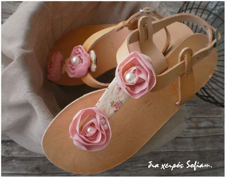 14.012 floral leather sandals