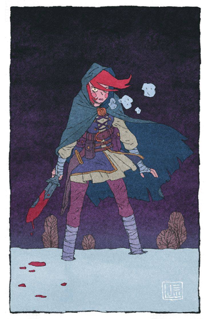 """Jake Wyatt's rendering of Sigrid, from Josh Vann and Simone D'Armini's """"The Spider King"""": http://www.kickstarter.com/projects/1854464912/the-spider-king-graphic-novel"""